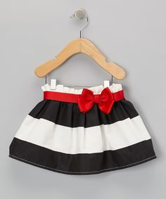 Look at this Black & Red Stripe Skirt - Infant & Toddler on #zulily today!