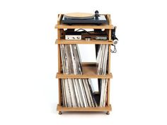 Line Phono Turntable Stand, designed by Vinyl Experts + Architects, made in the USA.