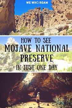How to See Mojave National Preserve in Just One Day - We Who Roam - frannimanni - Nature travel Mojave National Preserve, California National Parks, California Travel, Places To Travel, Places To See, Mojave Desert, Adventure Activities, Travel Usa, Honeymoons
