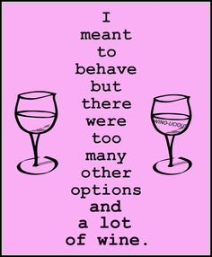 """Let's blame the Wine!--->   """"...too many options & a lot of Wine""""  __[Wino-Licious/FB]"""