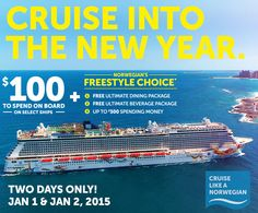 Cruise into the New Year!  http://www.jeanninepringle.cruiseshipcenters.ca