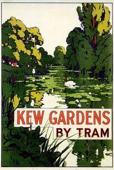 kew gardens. #posters, #england, #art