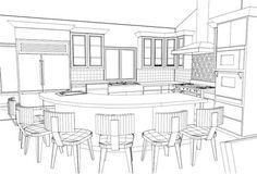 Res Weathertop Kitchen Pers Drawing Interior Rendering Design For Beginners Portfolios