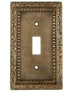 A lovely Victorian switch plate. This is made of solid bronze. Beautiful - and comes in so many functions, too.