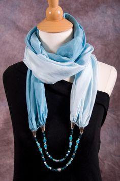 silk scarf necklace