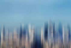 BLUEVISION by Klaus-peter Kubik  #blackandwhite #abstract #paris #montage #abstrakt #schwarzweiß #skyline