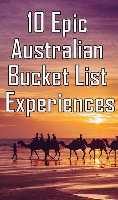 10 Epic Australian Bucket list Destinations!! ---> http://www.mappingmegan.com/australian-bucket-list-experiences/ try these!😀