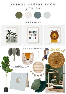 Safari Room, Safari Kids Rooms, Jungle Baby Room, Safari Theme Nursery, Boys Jungle Bedroom, Boy Toddler Bedroom, Baby Boy Rooms, Baby Room Art, Toddler Rooms