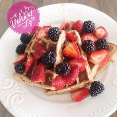 A Vibrant Life   Whole Grain Blender Waffles