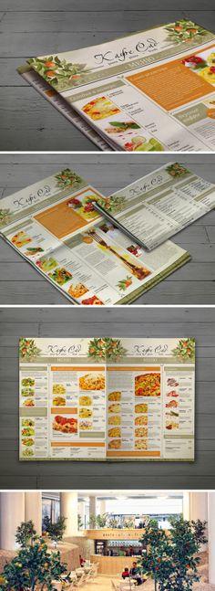 "Дизайн меню для пиццерии ""Кафе-Сад"" by Nadezhda Larionova, via Behance"
