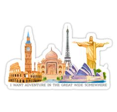 """I want adventure in the great wide somewhere (wonders)"" Stickers by lilkenz 