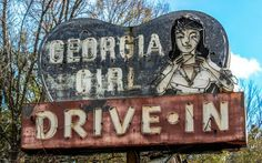 Old restaurant sign off of HWY 17 in Woodbine, GA. Photo by Scott Moore