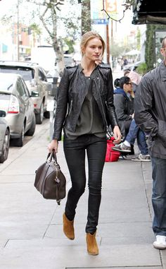 el look de street style de rosie huntington-whiteley