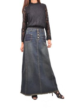 4d8b0639943680 51 Best Clothes images in 2019 | Jean skirts, Long denim skirts ...