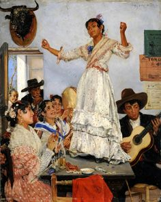 Ernst Josephson (Swedish, 1851-1906) Spanish Dance (Baile español) 1882 г. Konstmuseum, Göteborg