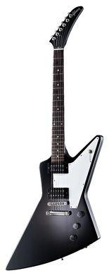 GIBSON EXPLORER 76 EB    Gibson Explorer 76 EB, electric guitar - mahogany body and neck, rosewood fingerboard, 1x thomann 496 R(Neck) & 1x 500 T(Bridge) humbuckers, 22 jumbo frets, white pickguard and chrome hardware. Includes case. Colour: Ebony. $1190
