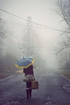 -she didn't know where she was going, but she had her chic umbrella and a change of clothes so it didn't really didn't matter:ceeanne.