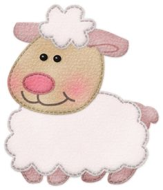 """Photo from album """"Moonica & Friends"""" on Yandex. Sewing Appliques, Applique Patterns, Hand Embroidery, Machine Embroidery, Cute Sheep, Sheep And Lamb, Country Paintings, Baby Scrapbook, Felt Animals"""