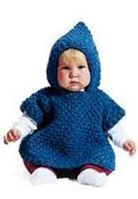 Jiffy bebé del Knit del poncho