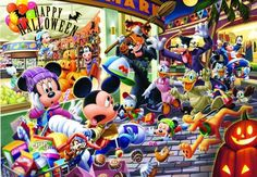 Tenyo Jigsaw Puzzle Disney Halloween Fuss 1000 Pcs Japan F/s for sale online Mickey Mouse And Friends, Mickey Minnie Mouse, Disney Mickey, Disney Pixar, Walt Disney, Disney Characters, Disney Halloween, Baby Halloween, Halloween 2015