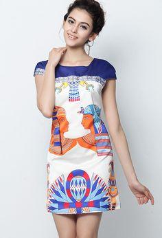 Egypt Print Dress