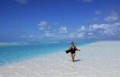 Exuma, Bahamas -- enjoy the crystal clear waters and white sand.
