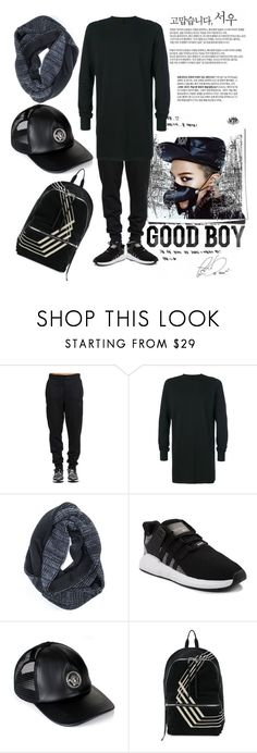 """""""GD"""" by maryjayseven ❤ liked on Polyvore featuring Tim Holtz, Rick Owens, Muk Luks, adidas, Versace, DRKSHDW, men's fashion, menswear, kpop and GD"""