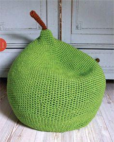 Pear pouf crochet pattern - Google Search