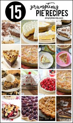 A scrumptious collection of pie recipes, including chocolate, berry, apple, key lime, pecan, and more! Perfect for Thanksgiving dinner, and anytime!