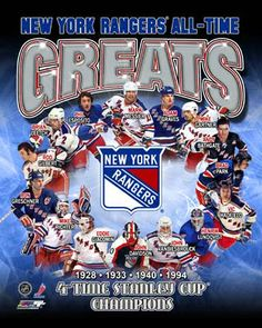 New York Rangers All Time Great players Canvas Framed Over With 2 Inches Stretcher Bars-Ready To Hang- Awesome & Beautiful New York Rangers, Adam Graves, Brad Park, Brian Leetch, Rangers Hockey, Giants Football, Football Team, Mark Messier, Sports Toys