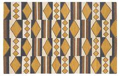 Angela Flat-Weave Rug, Mustard | Year-End Sale | One Kings Lane