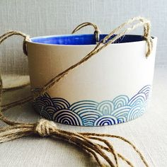 Handmade ceramic planter by artcrafthome on Etsy