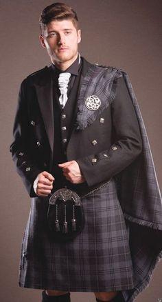 Silver Highlander Tartan, Scottish Kilts, Highlandwear, Tartans and accessories Scottish Dress, Scottish Clothing, Scottish Culture, Kilt Wedding, Wedding Suits, Wedding Dress, Men Formal, Formal Wear, Dress Formal