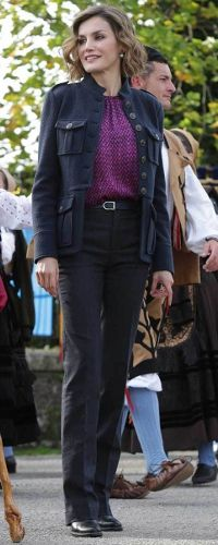 Queen Letizia visits 2015 Exemplary Town of Colombres on October 24, 2015 in Colombres, Spain. The village of Colombres was honored as the 2015 Best Asturian Village.