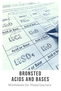 Use this acid base worksheet to show your students how hydrogen atoms move in a Bronsted acid problem. Acid base chemistry can be visual! Chemistry Worksheets, High School Chemistry, Teaching Chemistry, Chemistry Lessons, Science Chemistry, High School Science, Science Lessons, Chemical Science, Science Ideas