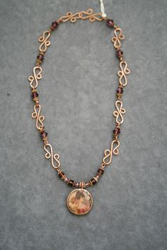 Wire Jewelry Patterns | Beautifully Handcrafted Copper Wire Jewelry with Violet Swarovski ...