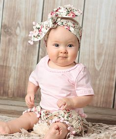 Look what I found on #zulily! Light Pink Tee & Ivory Floral Set - Infant & Kids #zulilyfinds