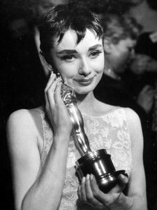 1954 Roman Holiday Oscar ceremony dress worn by Audrey Hepburn