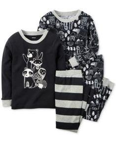 Carter's Baby Boys' 4-Piece Woodland Creatures Pajamas Set