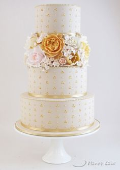 Autumn Bloom Wedding Cake
