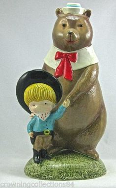 Joan-Walsh-Anglund-The-Brave-Cowboy-and-Bear-Bank-His-Friend-EXCELLENT-Figurine