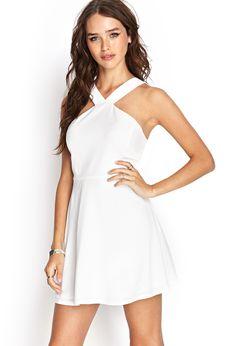 White Halter Skater Dress Forever 21 $19.80