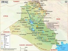 Iraq Map Tourist Attractions httpholidaymapqcomiraqmap