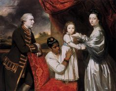 .:. George Clive and his Family with an Indian Maid, 1765 Joshua Reynolds