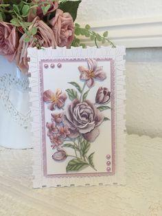 Tattered Lace Cards, Lace Flowers, Lace Design, Florals, Decoupage, Card Ideas, Floral Wreath, Decorative Boxes, Paper Crafts