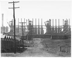 Birmingham Steel Mill and Workers' Houses Walker Evans