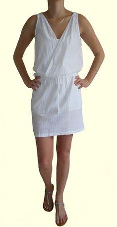 Just Cruizin - Wrapstyle beach dress in white – Jc & Crew White Dress, Bohemian, Clothes For Women, Beach, Casual, Dresses, Fashion, Outerwear Women, Vestidos