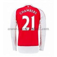 Arsenal Fotballdrakter 2016-17 Chambers 21 Hjemmedrakt Langermet