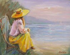 Andrei Branisteanu  - Visatoarea Figurative, Artworks, Painting, Hat, Painting Art, Paintings, Painted Canvas, Art Pieces, Drawings