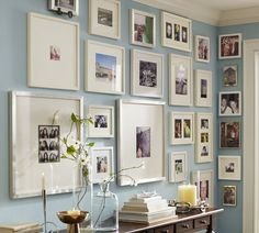 Show off your memories. Pottery Barn gallery wall